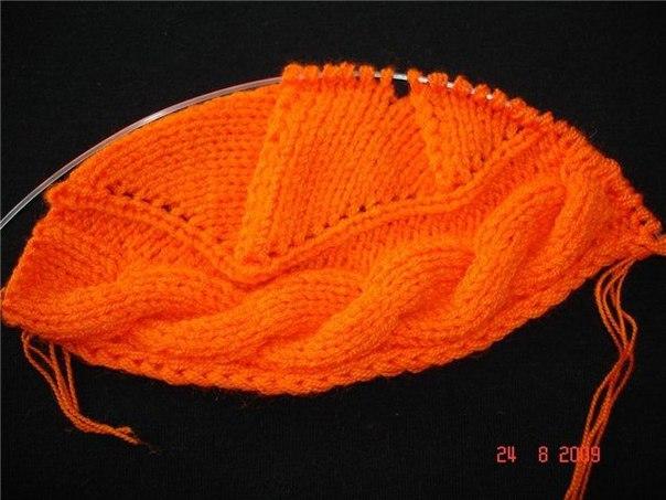 Вязание берета из 7 петель