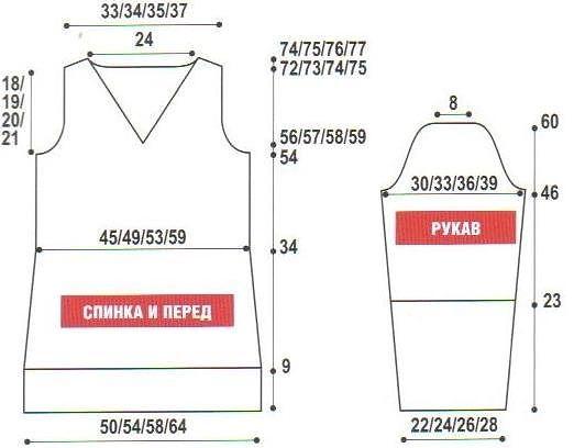Вязание спицами платья 46-48 размера