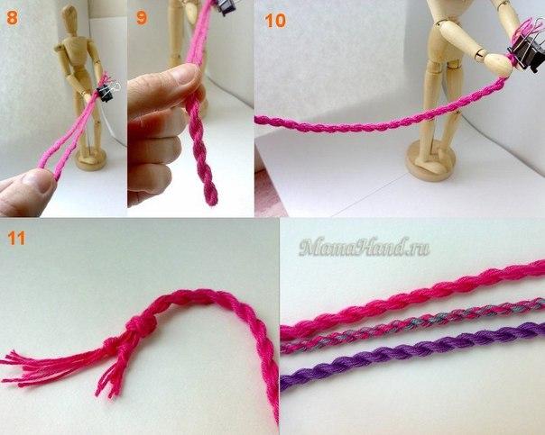 Плетение шнурков из ниток