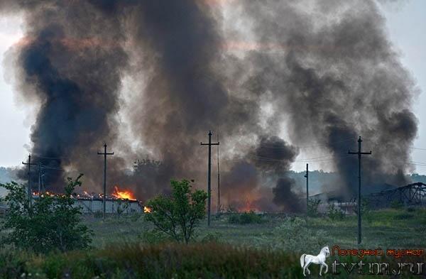 Луганск новости 7 августа 2014 - заживо сгорела целая семья